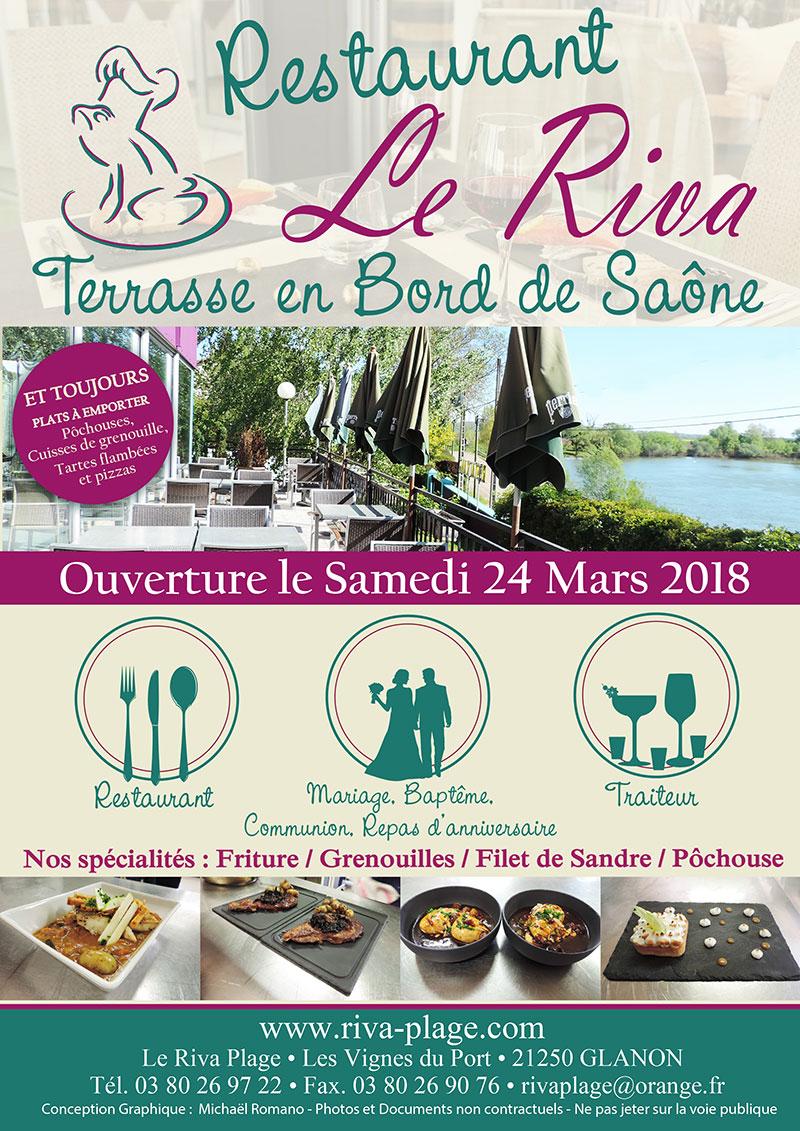 Ouverture saisonnière restaurant Glanon Bourgogne Saône