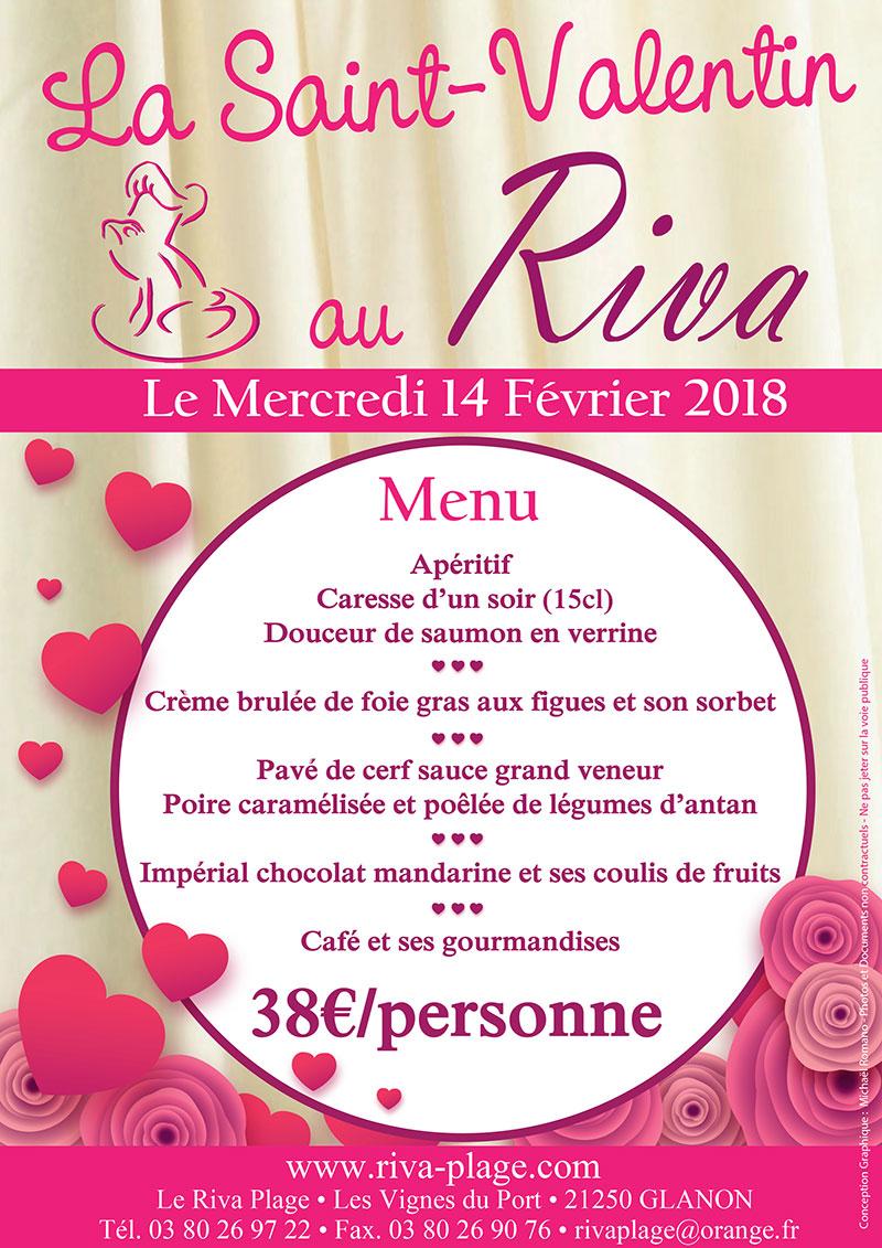 Saint-Valentin 2018 repas romantique