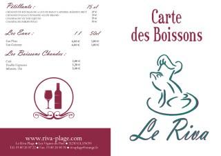 Carte des boissons du restaurant Le Riva en Bourgogne - 1