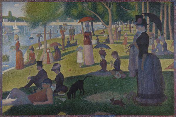 Georges Seurat. Dimanche Apr-midi Sur L'le De La
