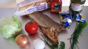 Zutaten für einen Portugiesischen Burger
