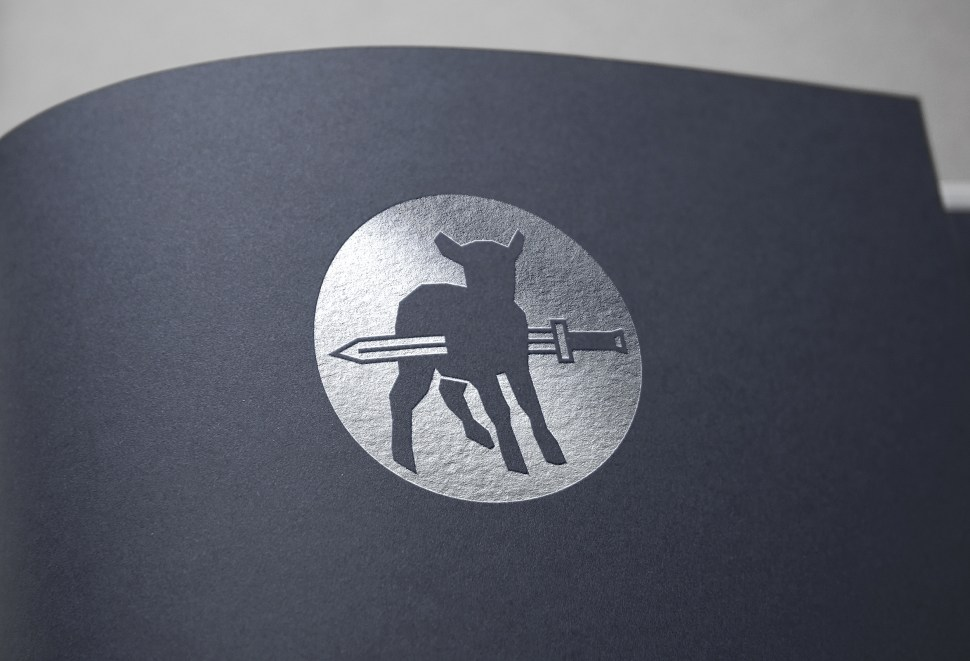 Logo on paper.
