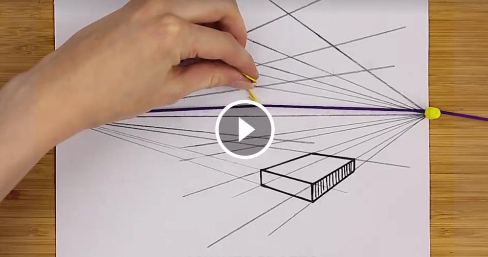 Il trucco per disegnare in prospettiva con lelastico