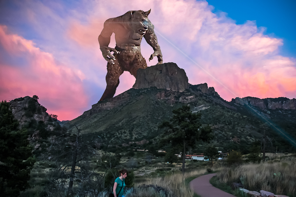 Big Bend Cyclops Lasering Hikers