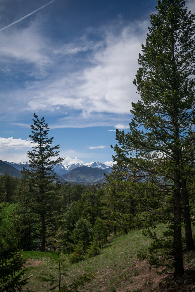 Estes Park, Colorado Sky Mountains Fir Trees