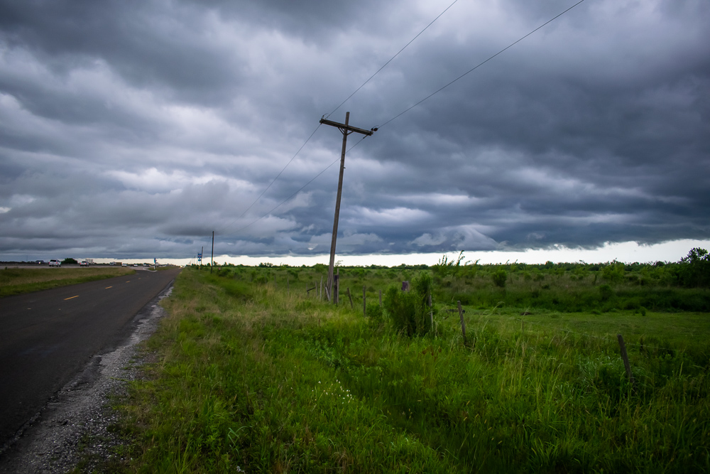 Storm Telephone Pole Texas Country