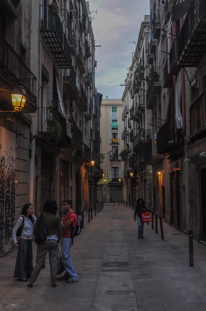 Barcelona Spain Alleyway In The Heart Of The City