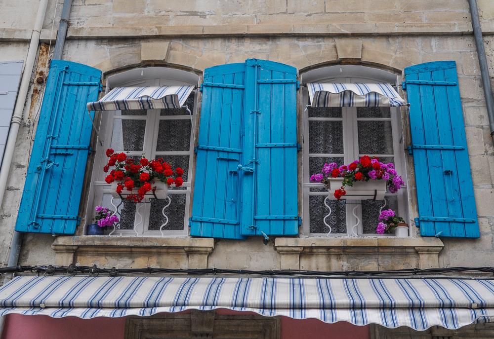 Blue Shutters & Flowers France