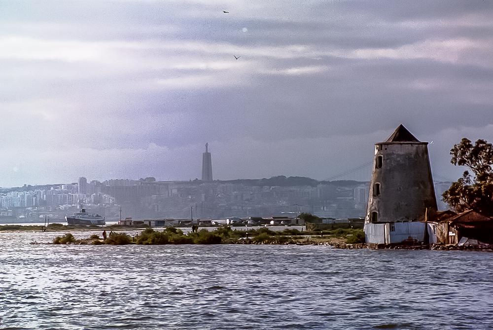 LIghthouse Sea Faded Dreams Lisbon Portugal