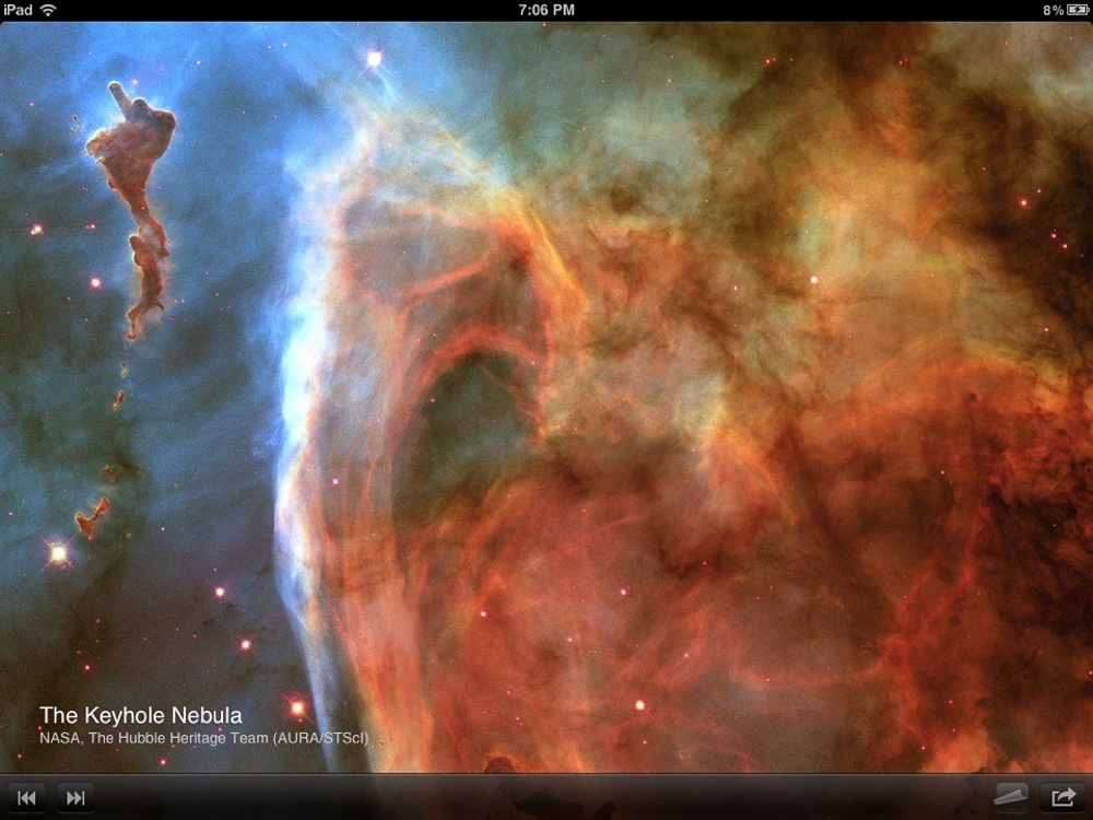 iPad App - Hubble Experience - Pinch & Zoom View