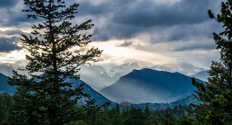 Rockies Sunlight On Mountain Vistas