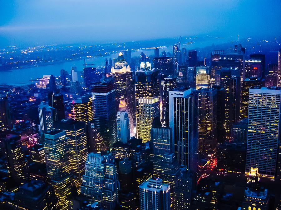 New York City, Manhattan At Night Hudson River