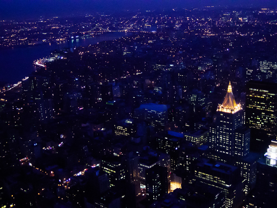New York City, Glowing At Night