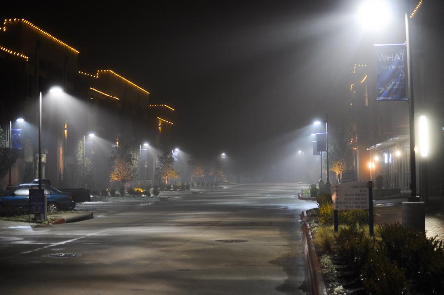 Fog Lights Urban Spaces