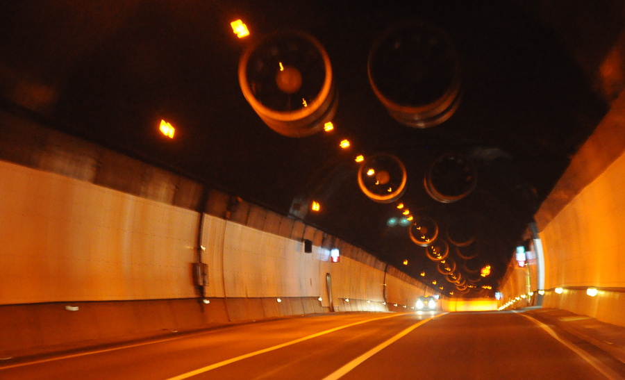 Tunnel Lights Urban Dystopian Barcelona