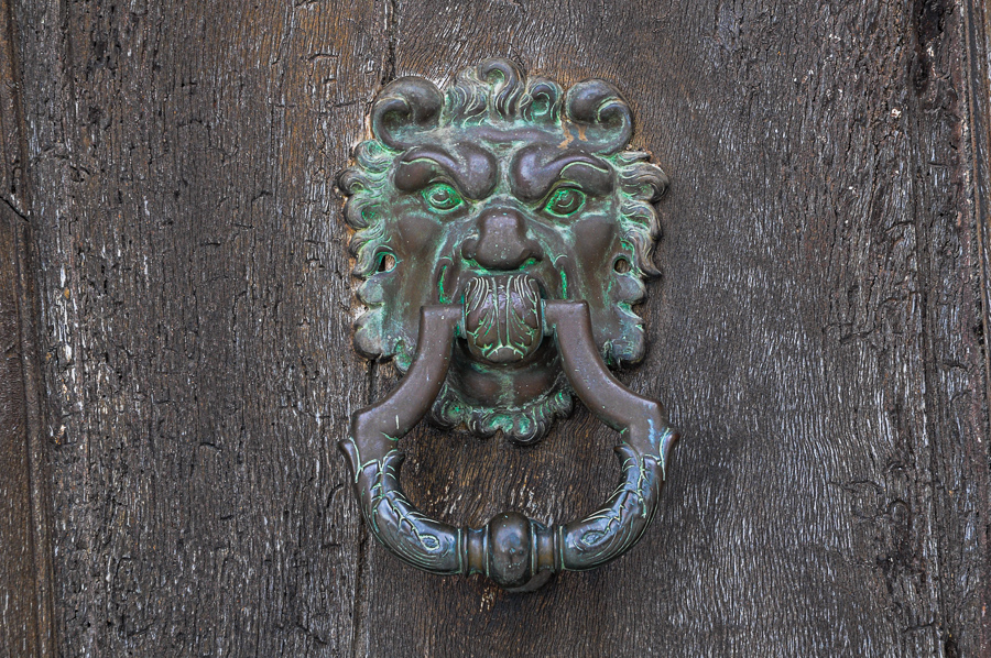 France, Door knocker, patina