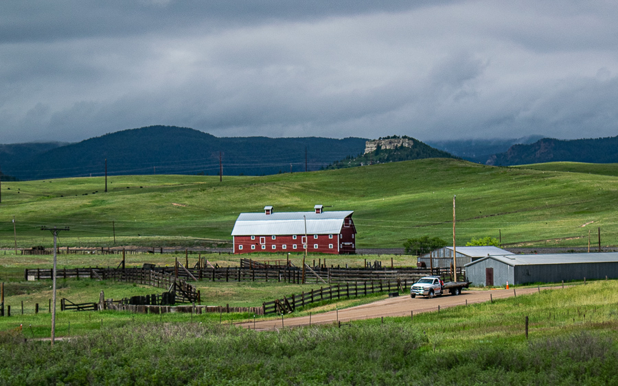 Roadside Relics - Barn, Green Fields, Mountains, Love