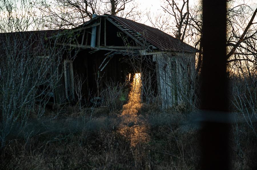 Barn Keyhole Sunlight