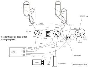 Fender Precision Elite II  Wiring