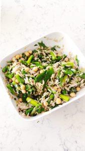 Orzo Asparagus Salad
