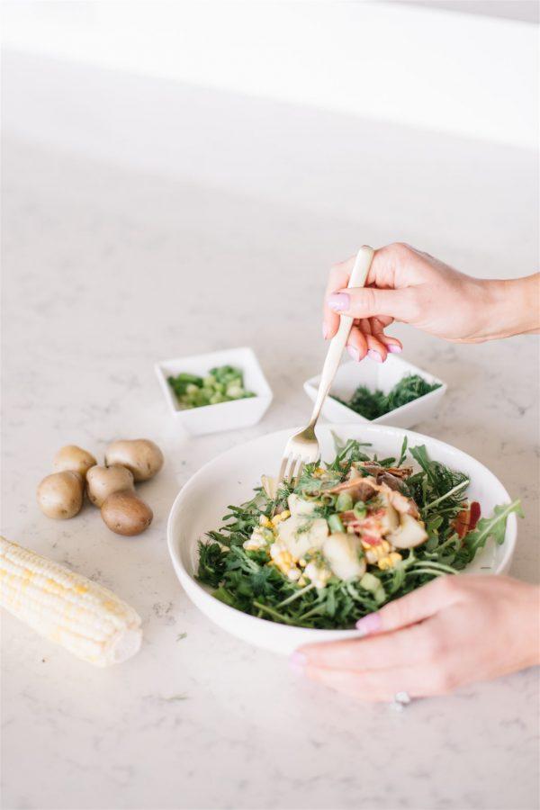 Fresh gluten free potato salad