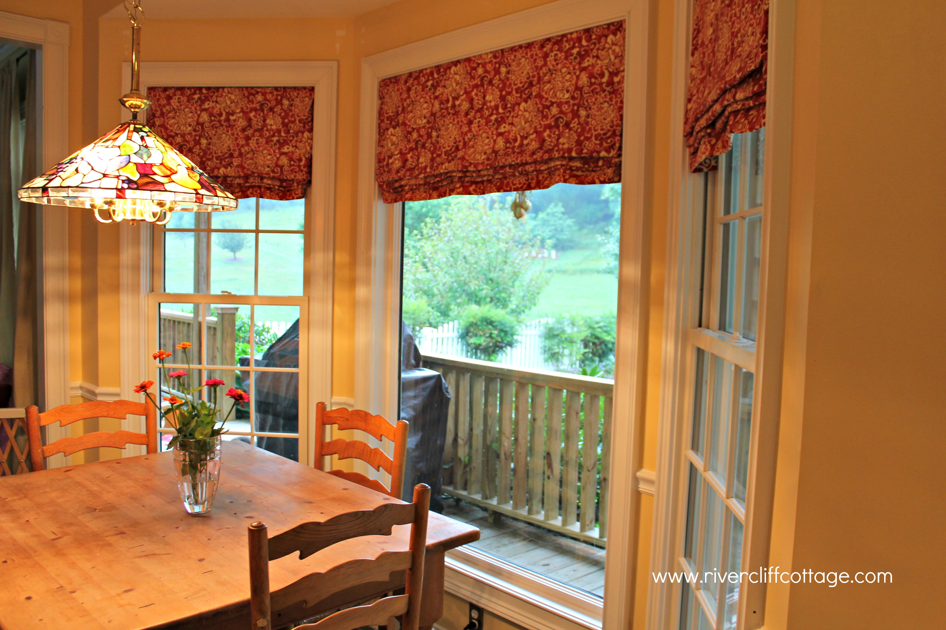 red valances for kitchen windows inside cabinets window treatments 2017 grasscloth wallpaper