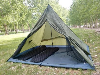trekker tent 3 with sleeping pads