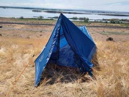 1 person trekking pole tent