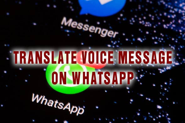 Translate Voice Message On Whatsapp