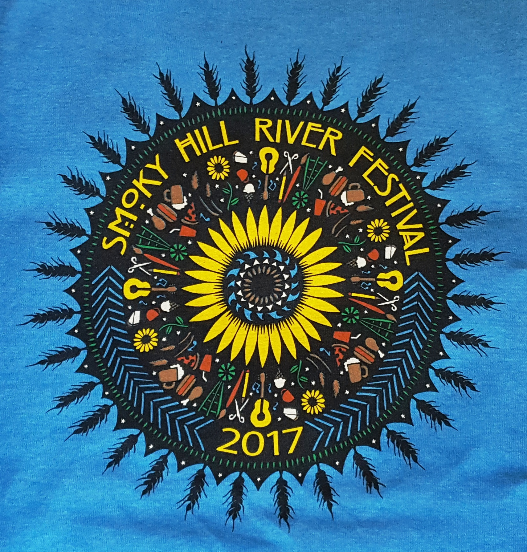 2017 Festival T-Shirt by Angie Pickman, Lawrence, KS