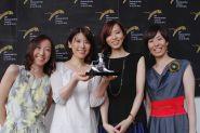 Happy Hour, Concorso Internazionale, Pardo per la miglior interpretazione femminile. From left Kawamura Rira, Mihara Maiko, Kikuchi Hazuki e Tanaka Sachie