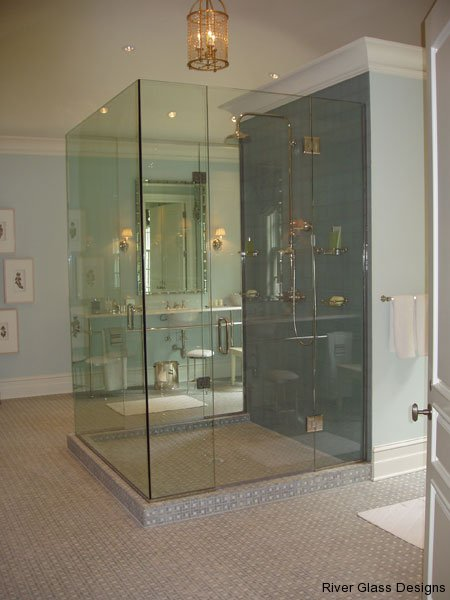 Glass Shower Door Photos River Glass Designs