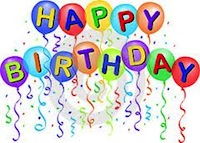 Birthday Balloons Happy 10th