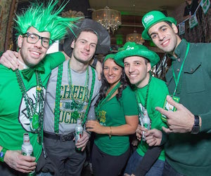 Revelers at the Hoboken St. Patrick's Day pub crawl last year. Image: HobokenStPatricksDay.com