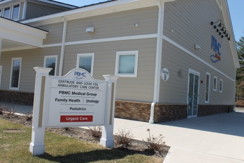 One of three buildings at PBMC Health's Manorville campus. Photo: Denise Civiletti