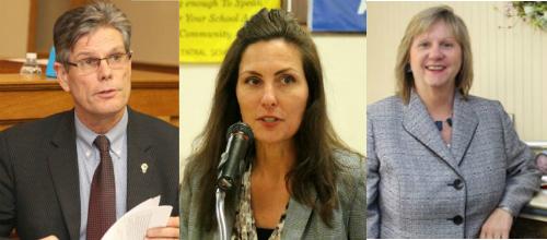 Riverhead town justice candidates Bob Kozakiewicz, Lori Hulse and Jeanmarie Costello.
