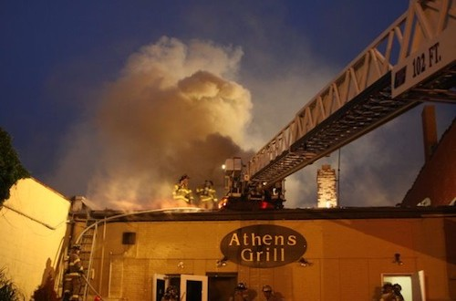 The fire that destroyed the Athens Grill began in the restaurant's kitchen. File photo: Peter Blasl