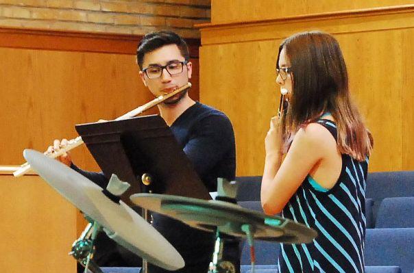 Teen Flute Student and Teacher