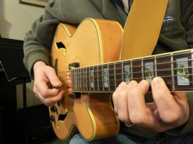 Rob playing his Pat Metheny Archtop