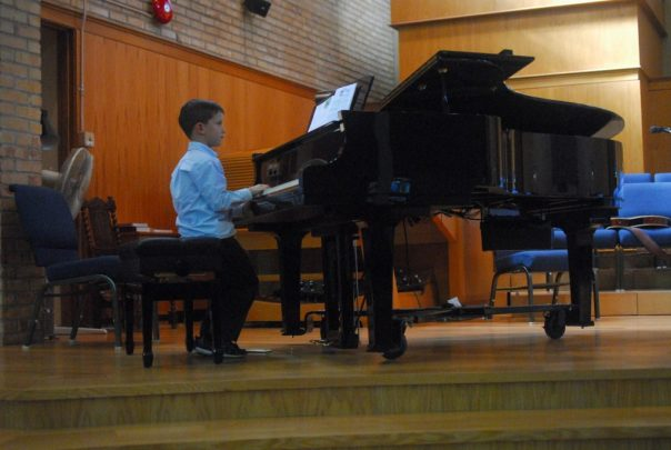 Piano Playing Boy