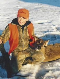 Young deer hunter Spencer Dietrich has learned early that any deer is a trophy.