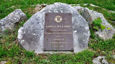 Commemorative plaque at Loggers Lake campground. This campground is but one example representing the infrastructure the CCC built during the 1930s throught the U.S.