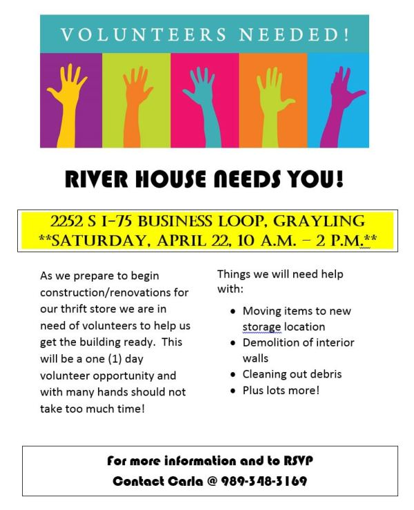 Thrift Store Volunteer Flyer