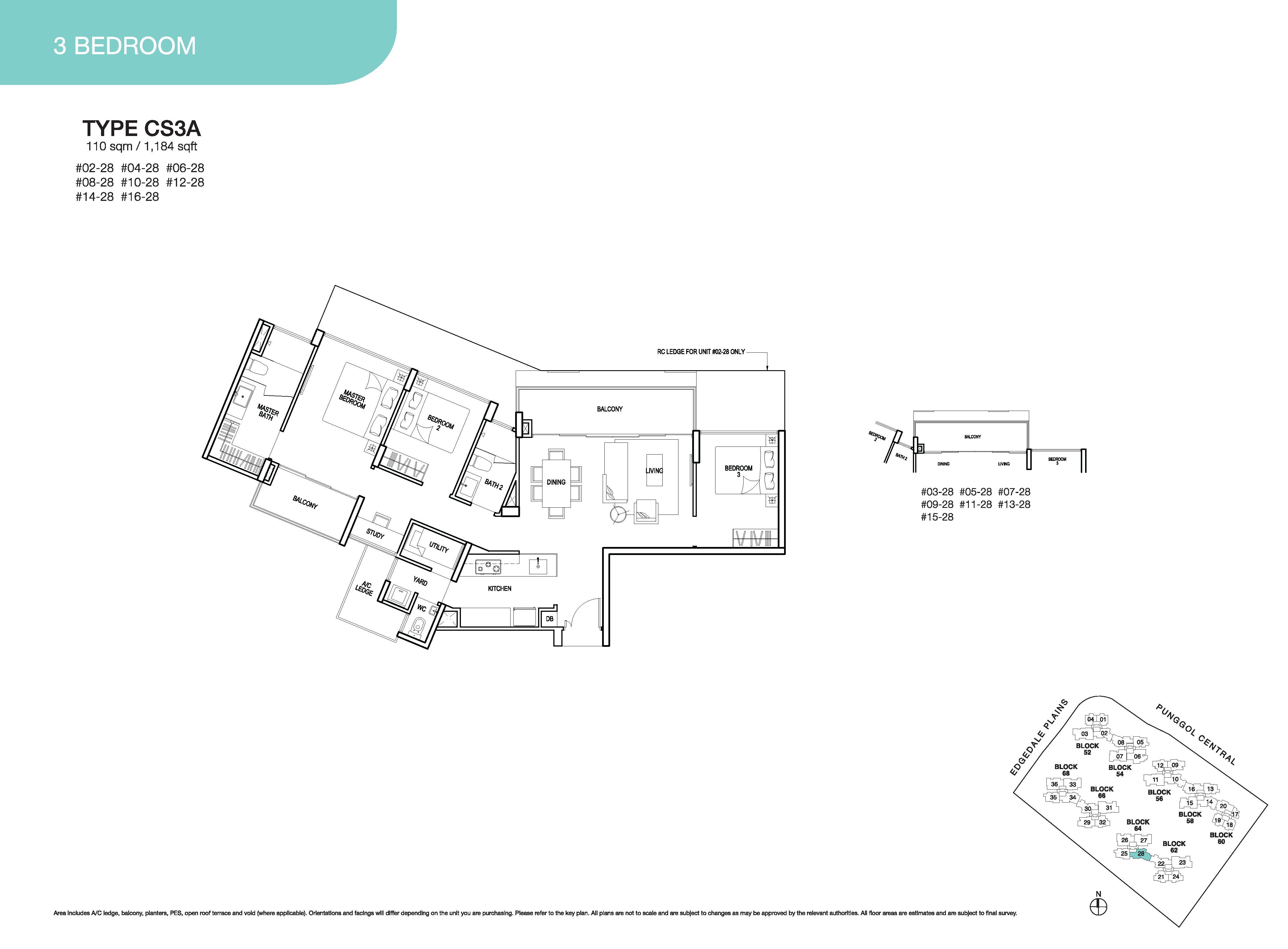 River Isles 3 Bedroom Floor Plans Type CS3A