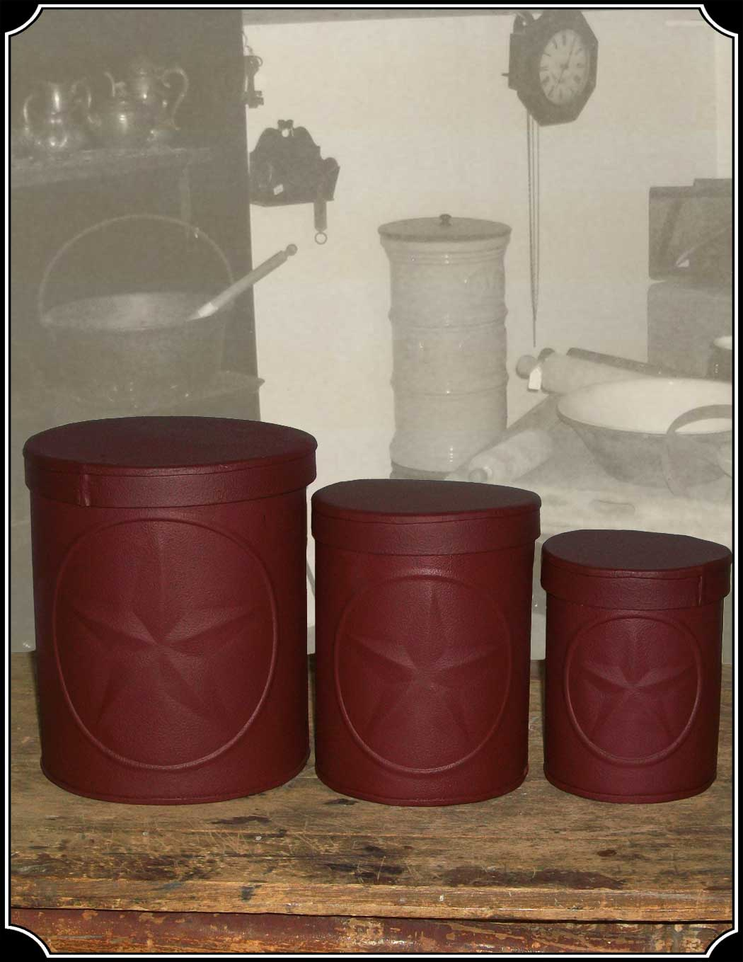 kitchen storage canisters used kitchens for sale tin star set of 3