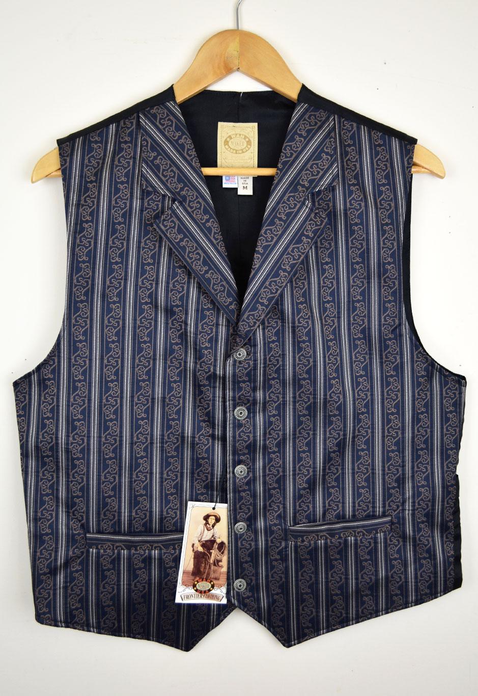 z Sold WahMaker  Fancy Blue Stripe Vest