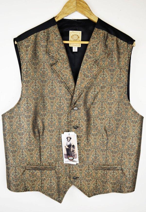 Sold Wahmaker - Fancy Tan Patterned Vest Size 2xlarge
