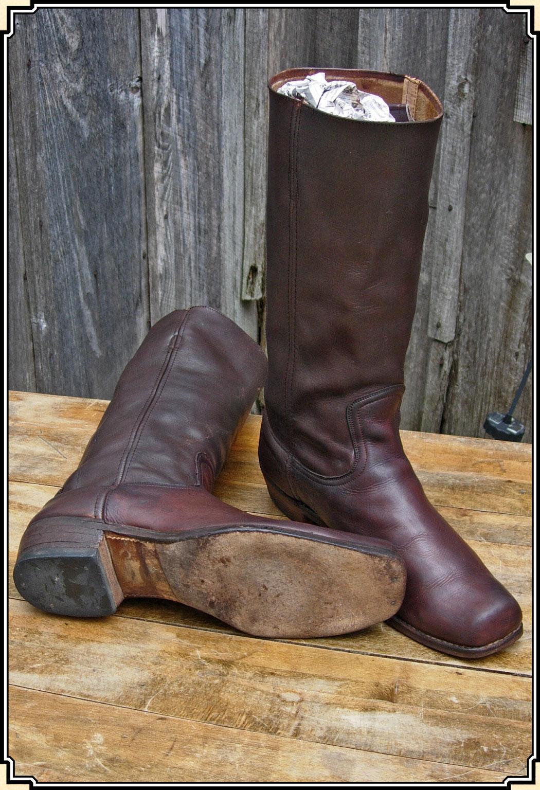 Leather Dark Brown Boots