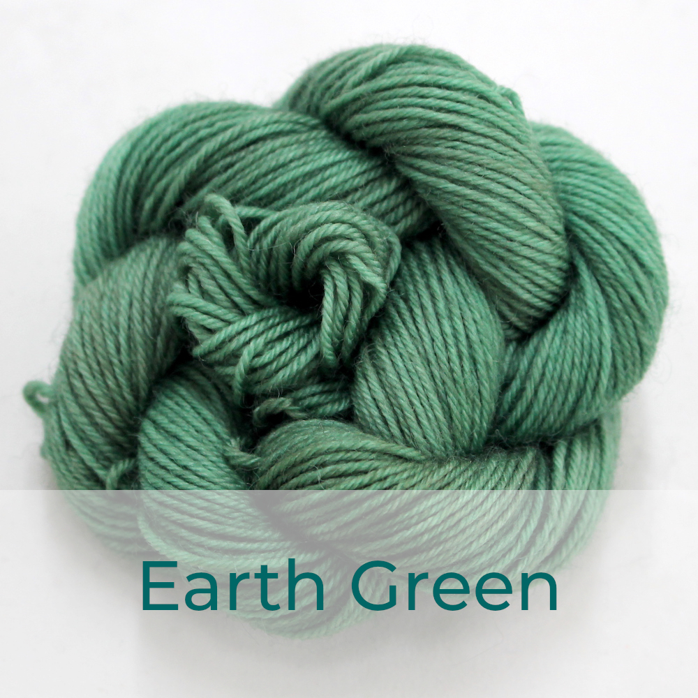 BFL 4 Ply mini skein in the Earth Green colourway. It is a soft sage green colour.