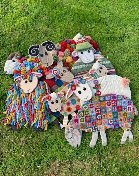 The Yarndale family of knit and crochet sheep